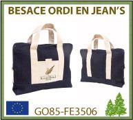 sac besace publicitaire en toile de jean's 240 gr - GO85-FE3506