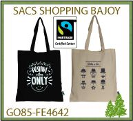 sac shopping Bajoy à partir de coton 160 gr en commerce équitable