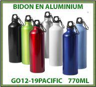 Bidon 770 ml en aluminium avec mousqueton