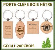 Jeton caddie fabriqué à partir de bois de tilleul - GO141-20AT1B