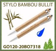 Stylo bille Bullit bambou attributs métal marquage publicitaire - GO120-20BO7318