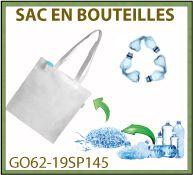 Sac shopping 80gr plastique recyclé à partir de bouteilles - GO62-19SP145