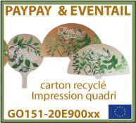 Eventail paypay en carton FSC fabrication europe - GO131-20HOGDG