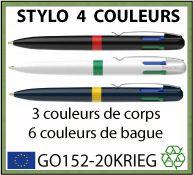Stylo bille 4 couleurs QUATRO moins cher que BIC - GO24-688407