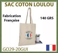 Sac coton Loulou de 140gr fabrication 100 pour 100 Française - GO29-20GUI
