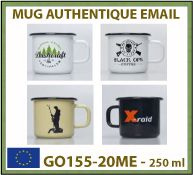 Vignette mug emaille 250ml