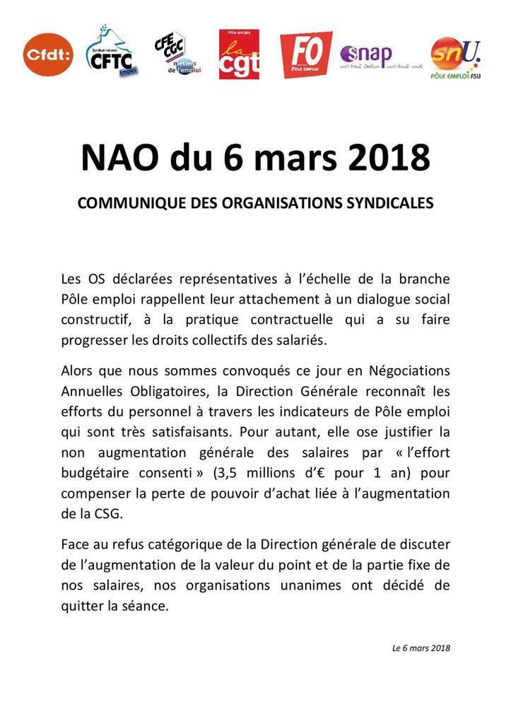 NAO 2018 : Zéro pointé !