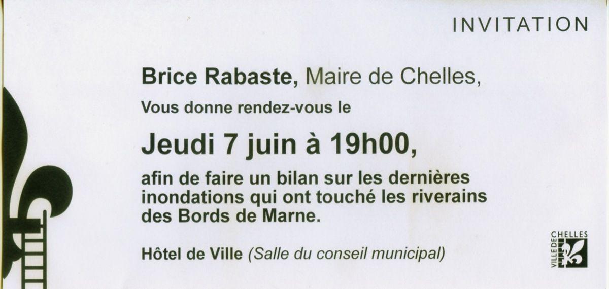 Inondations bilan réunion riverains bords de Marne à Chelles