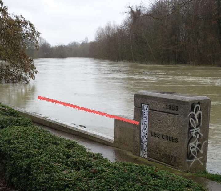 Crue  de la Marne 2018 modélisation de l'Etat