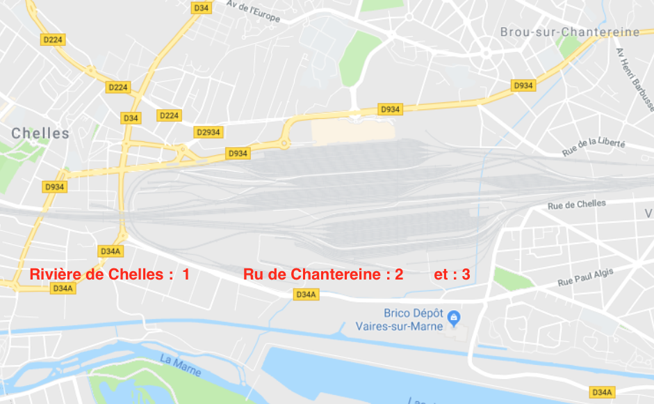 Les réseaux d'eaux de pluie EP: Explication des inondations de la ville de Chelles.