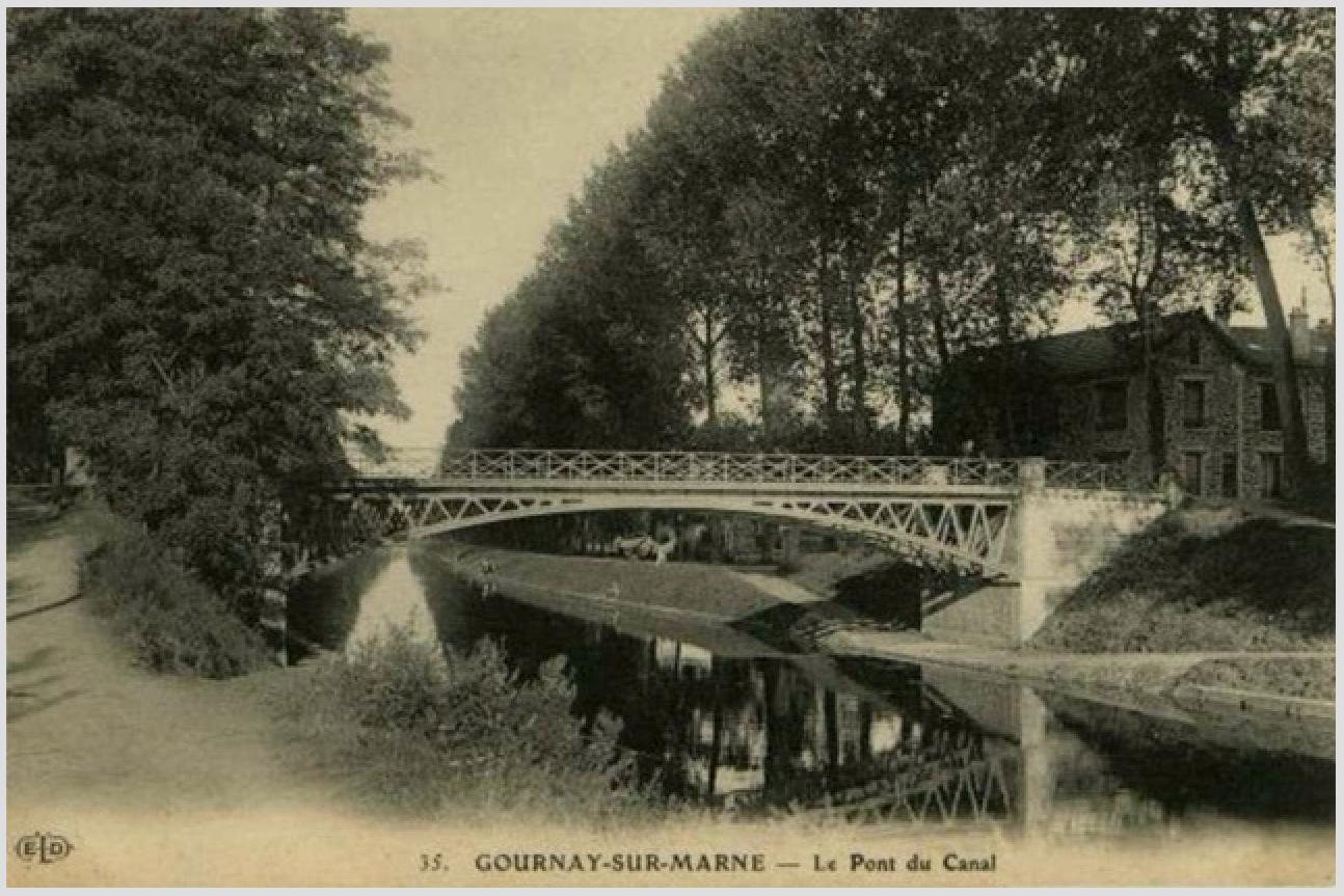 Le Pont de la D 226 sur le canal de Chelles