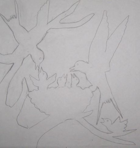Girouette nid d'hirondelles