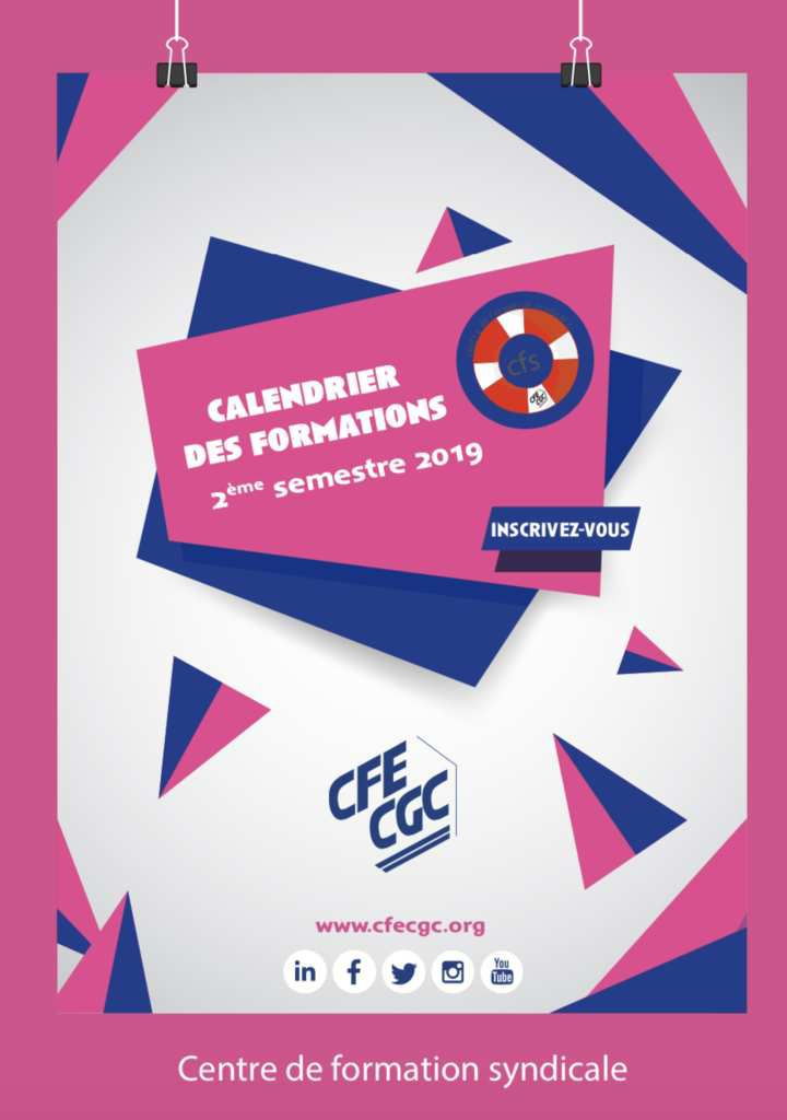 Formations adhérents CFE-CGC 2ème semestre 2019