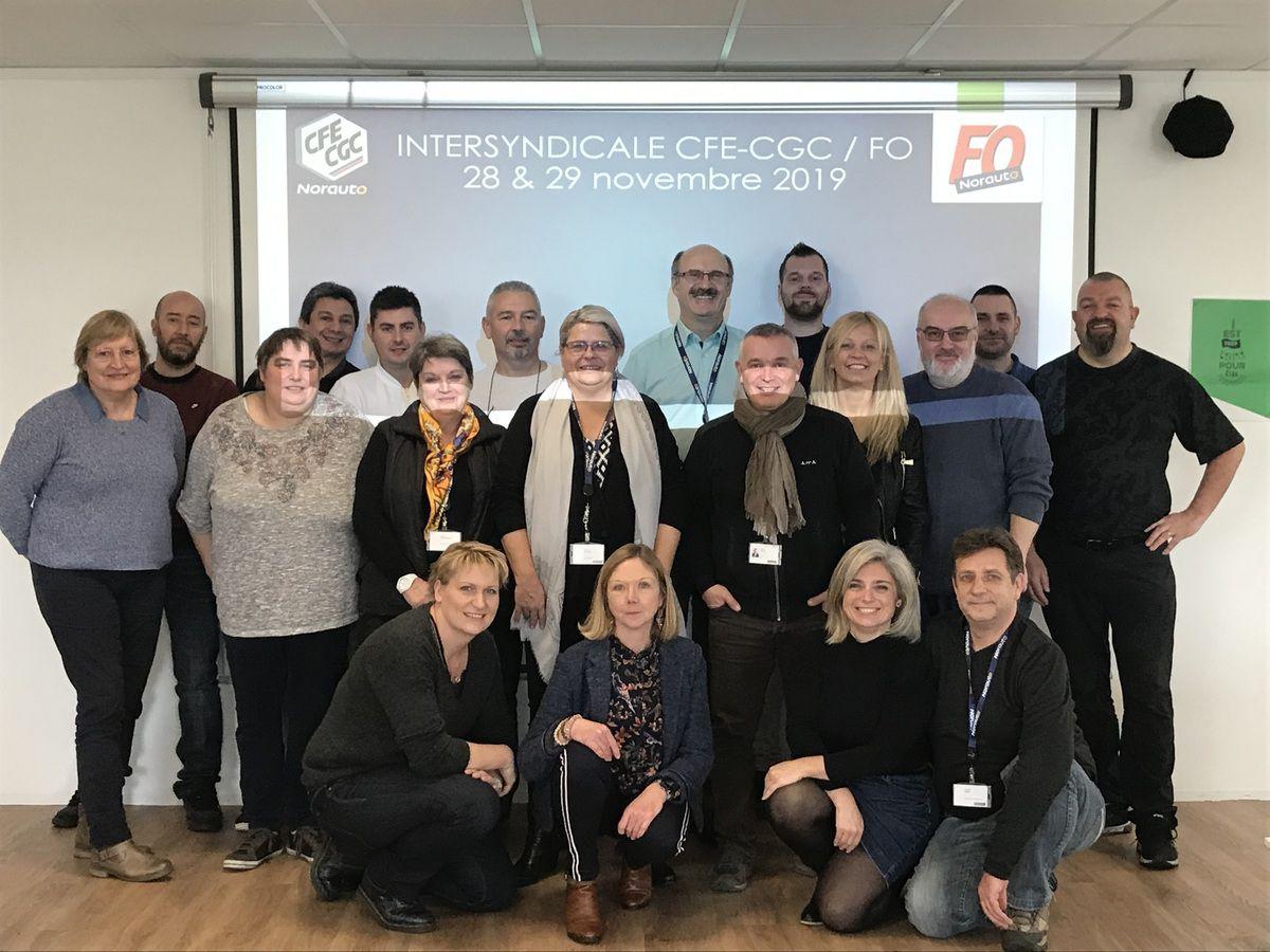 Rencontre des élus CFE-CGC et FO Norauto, à Lesquin le 28 et 29 novembre 2019