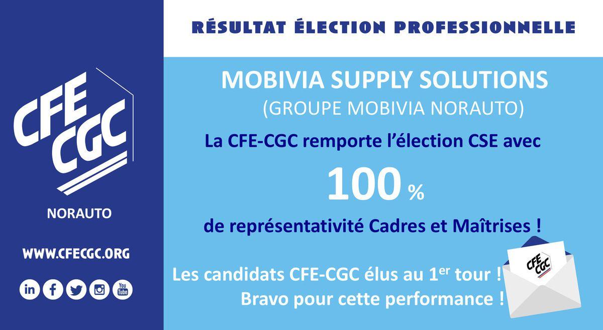 La CFE-CGC remporte l'élection Mobivia Supply Solutions de Norauto Logistique