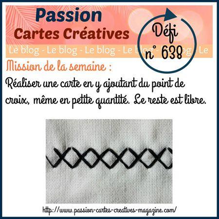 PASSION CARTES CRÉATIVES DÉFI 638 - 18/5/20