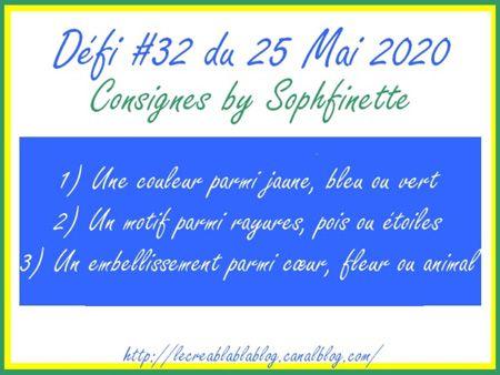 DÉFI 32 DU CRÉABLABLABLOG - 27/5/20