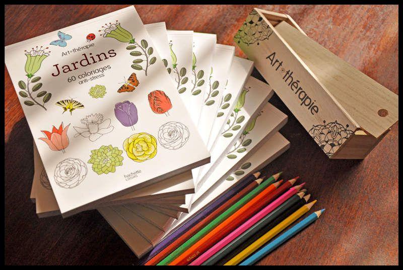 Nouvelle publication chez Hachette : Jardins - 60 coloriages anti-stress