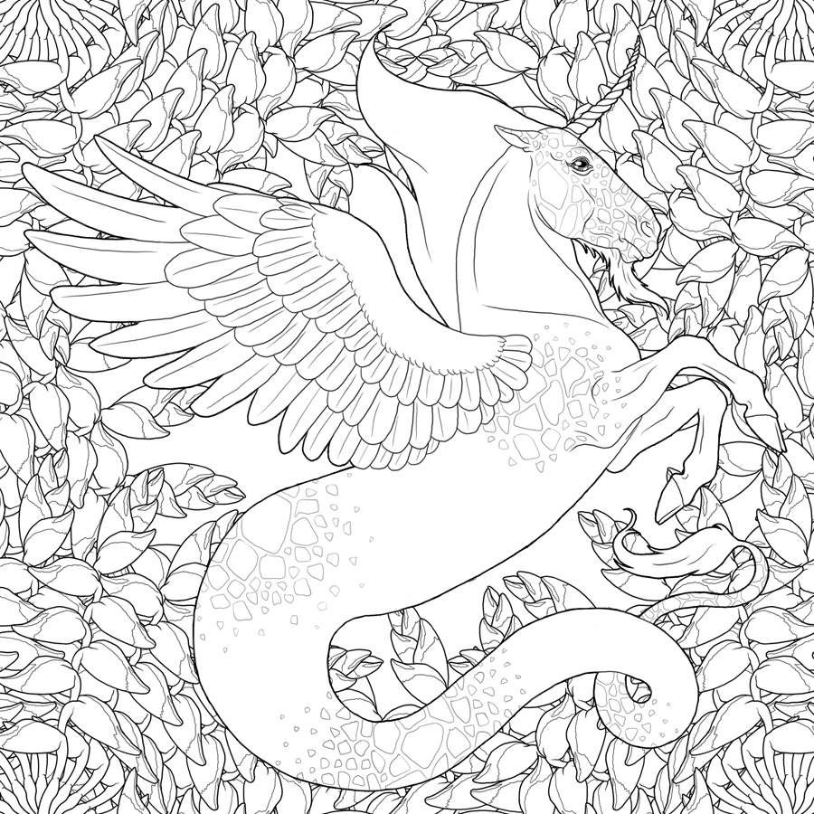 Coloriage Art Therapie Licorne Le Carton A Dessins De Flo
