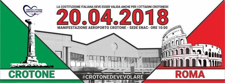 """Crotone:il Comitato Cittadino Aeroporto di Crotone contro chiusura aeroporto""""Non accettiamo più scuse"""""""