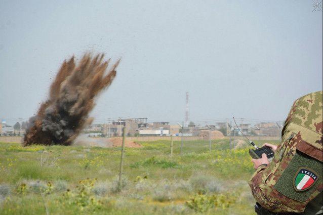 Afghanistan:militari italiani portano a termine bonifica di ingente quantitativo di munizionamento