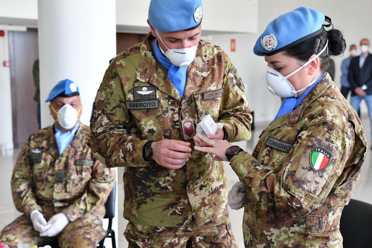 Libano:celebrato il primo matrimonio all'estero per 2 militari italiani