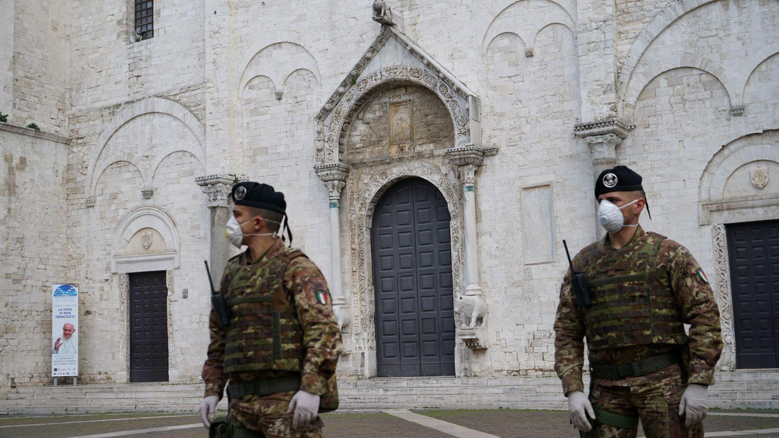 """Bari:avvicendamento alla guida del Raggruppamento""""Puglia-Basilicata""""in operazione""""Strade Sicure"""""""
