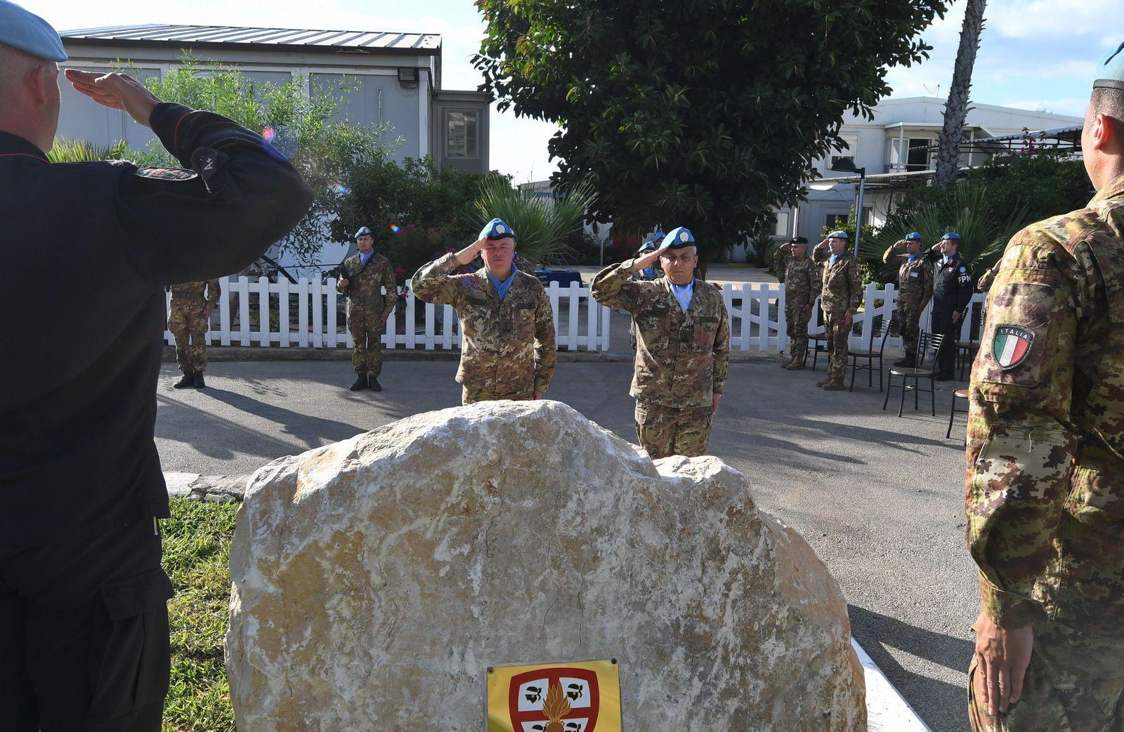 Libano:inaugurato un cippo in memoria dei peacekeepers italiani caduti missione UNIFIL
