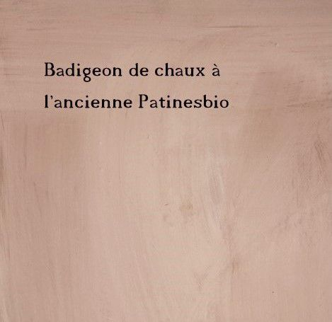 badigeon de chaux l 39 ancienne peintures et enduits. Black Bedroom Furniture Sets. Home Design Ideas