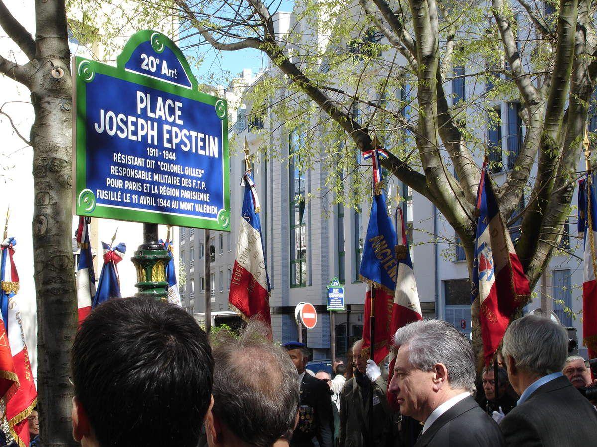 En explorant Google je me suis aperçu qu'il n'y avait pas de photos de l'inauguration de la Place Joseph Epstein dans le XXe arrondissement de Paris.Alors en voici quelques unes.