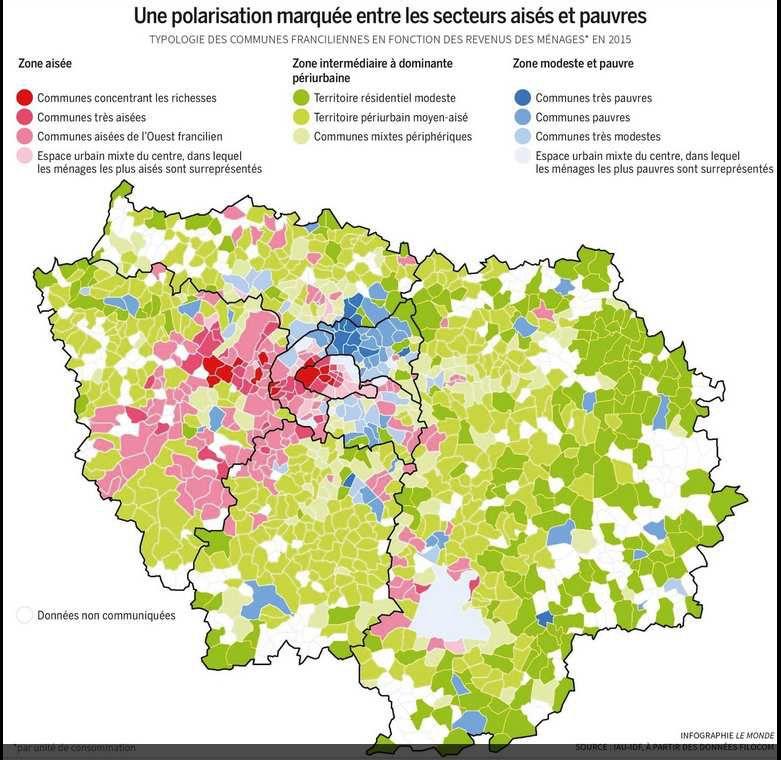 Gentrification et paupérisation en Ile de France, une étude de l'IAU