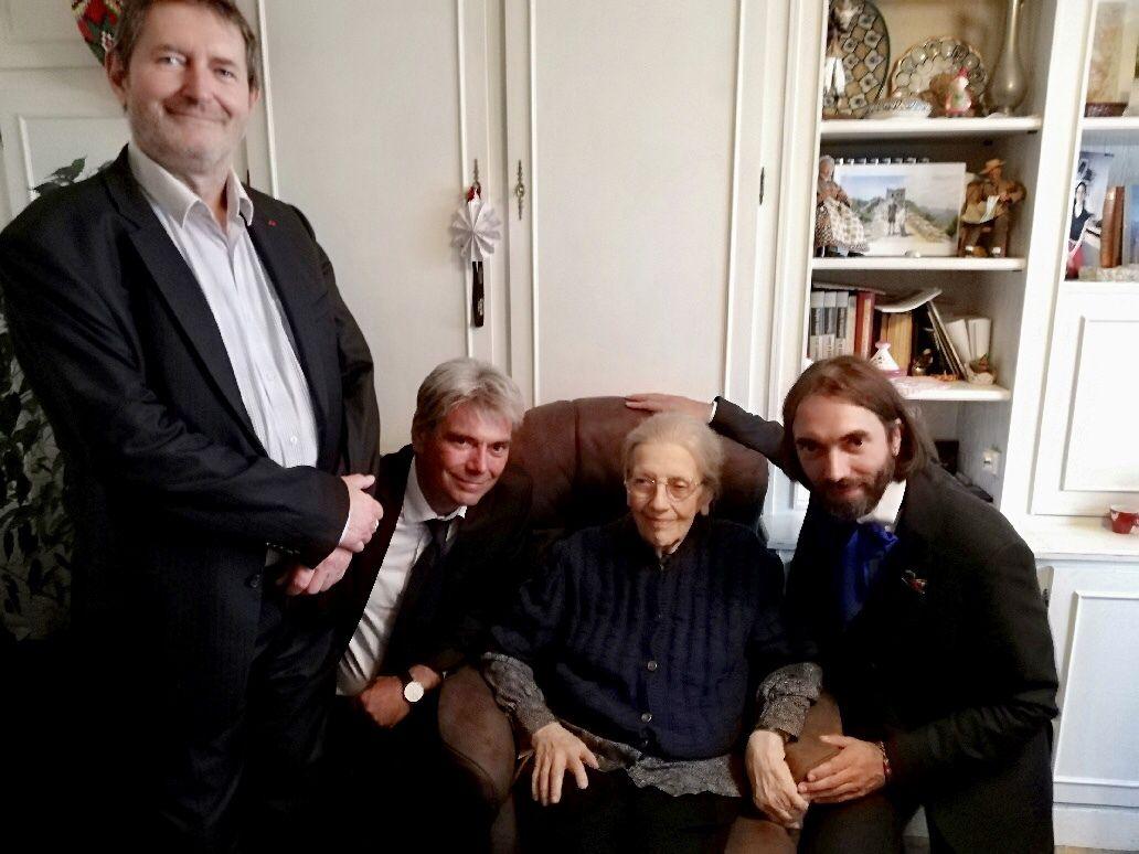 Josette Audin, Cedric Villani, Sebastien Jumel et Pierre Mansat