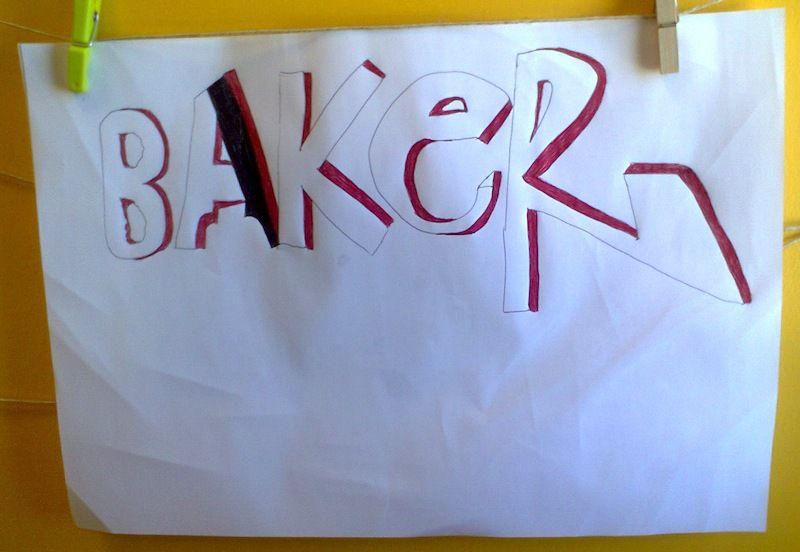 Baker (inachevé, l'élève était en stage pendant une partie de la séquence).
