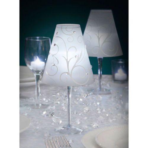 mini abat jour sur verre décoration de table noel