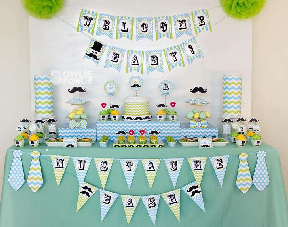 candy bar baby shower moustache