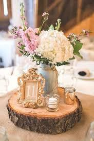 decoration table mariage vintage rondin