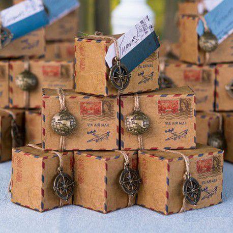 boite dragées kraft courrier
