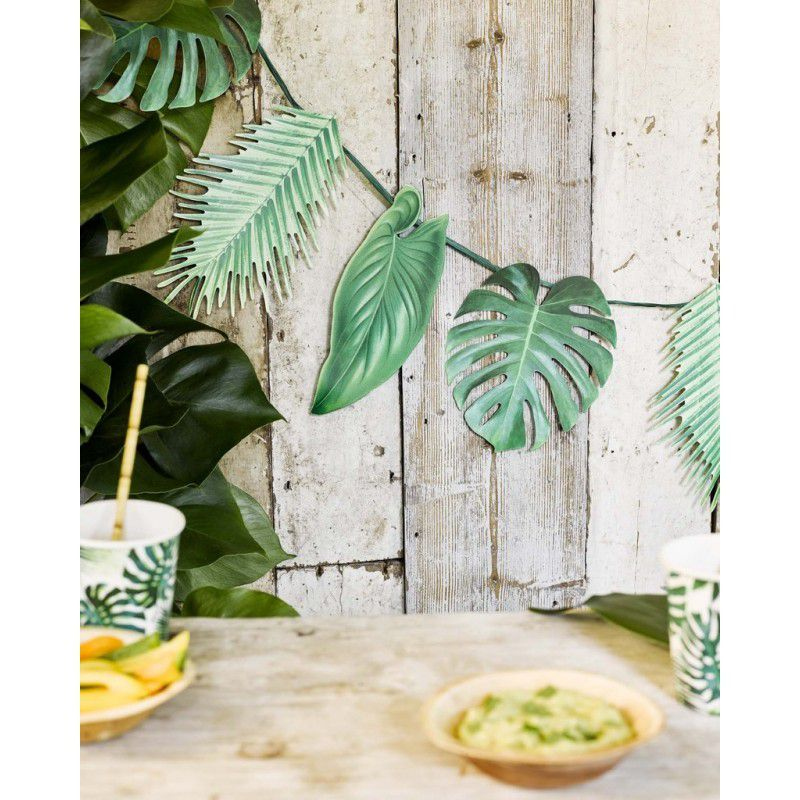 guirlande de feuilles exotiques