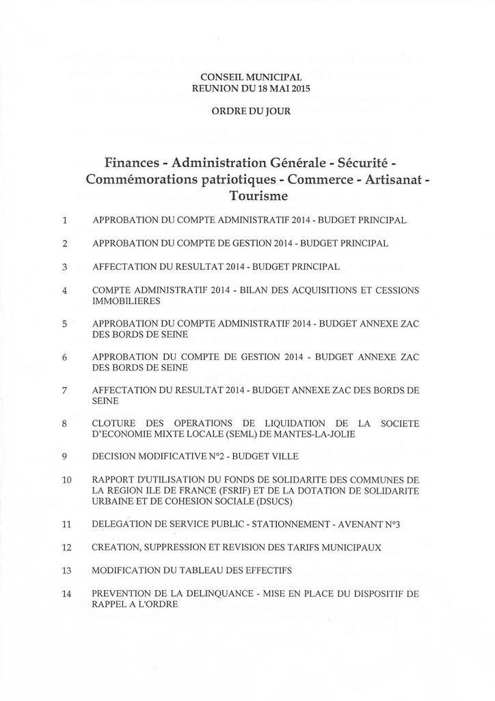 Mantes-la-Jolie. 36 délibérations au Conseil municipal lundi