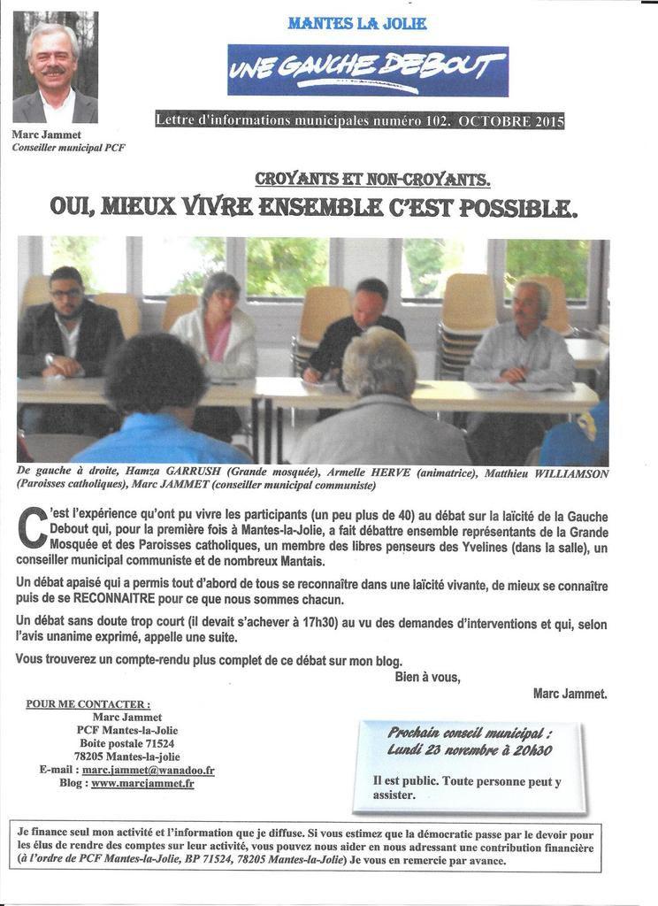 Ma lettre d'informations municipales - octobre 2015