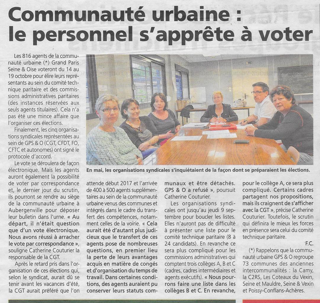 """Le Courrier de Mantes. """"Communauté urbaine: le personnel s'apprête à voter"""""""