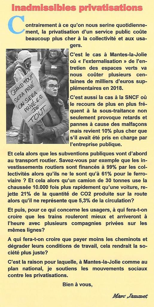 Inadmissibles privatisations