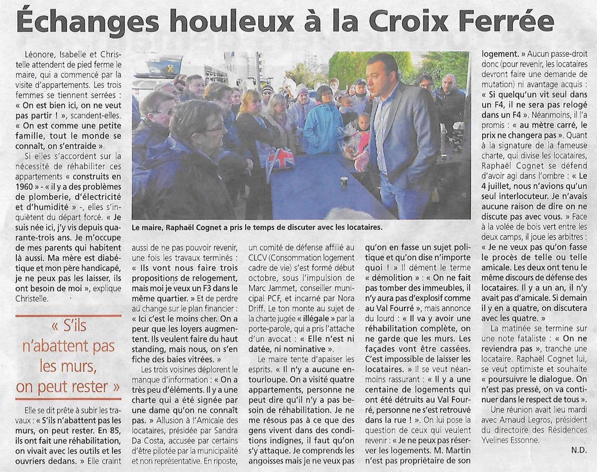 Revue de presse. Croix-Ferrée