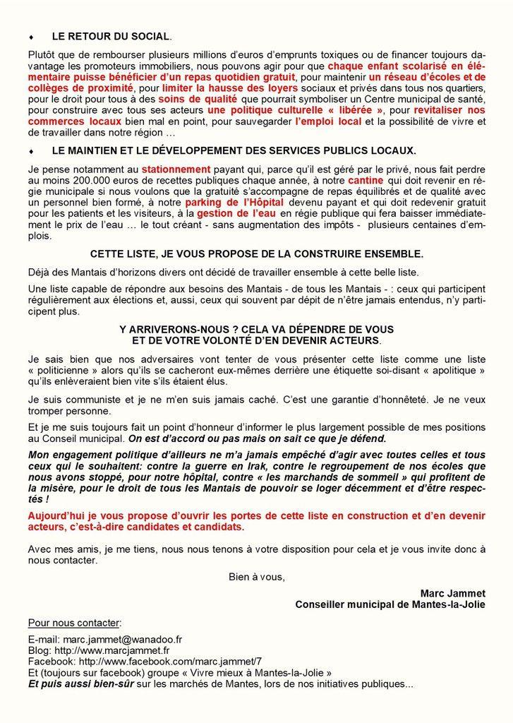 """Election municipale. Je suis candidat pour """"VIVRE MIEUX A MANTES-LA-JOLIE"""""""
