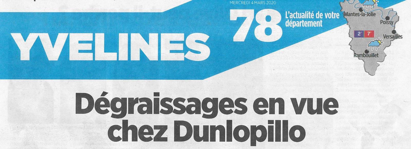 Article du Parisien le 4 mars 2020