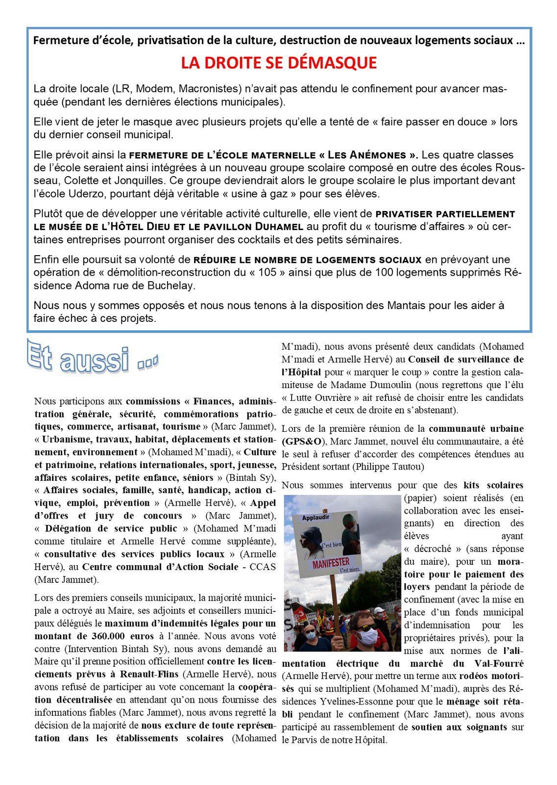 VIVRE MIEUX A MANTES-LA-JOLIE. Notre lettre d'informations municipales
