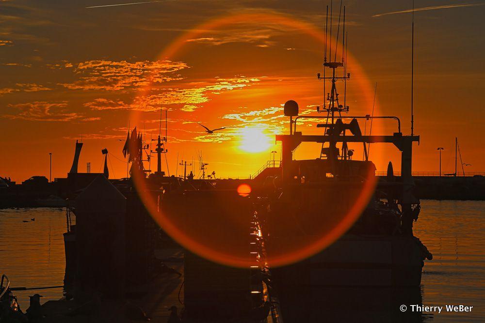 Un port un soir de Novembre 2016 La Turballe
