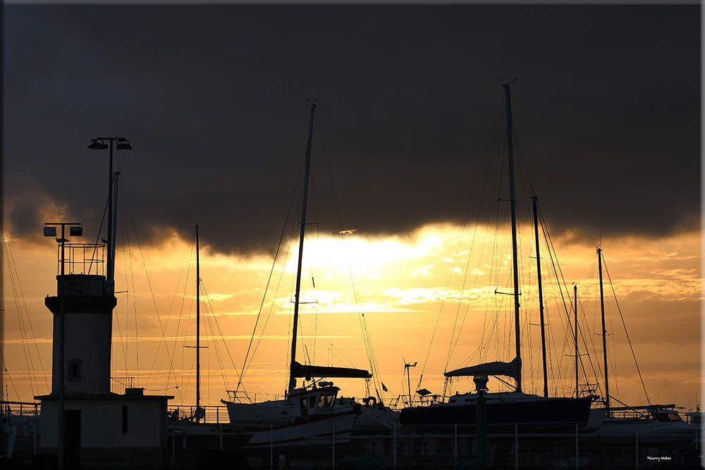 Coucher de soleil du 30 Juillet 2018 Port de La Turballe
