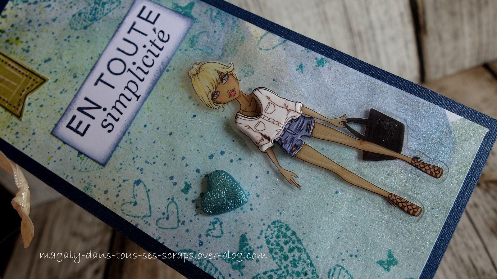 Série Marque-Pages/Tags {Demoiselles} vert-bleu
