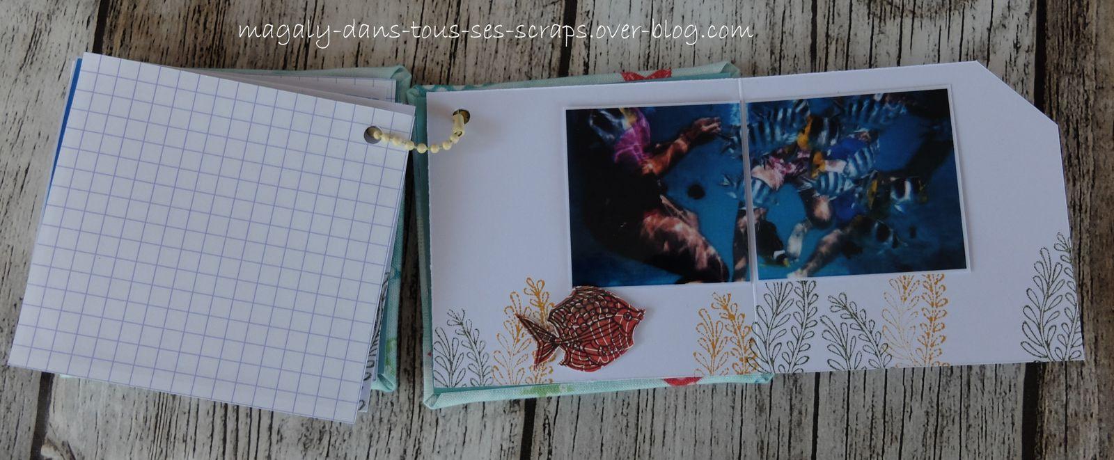 Mini-album {Fonds marins} dans sa boîte